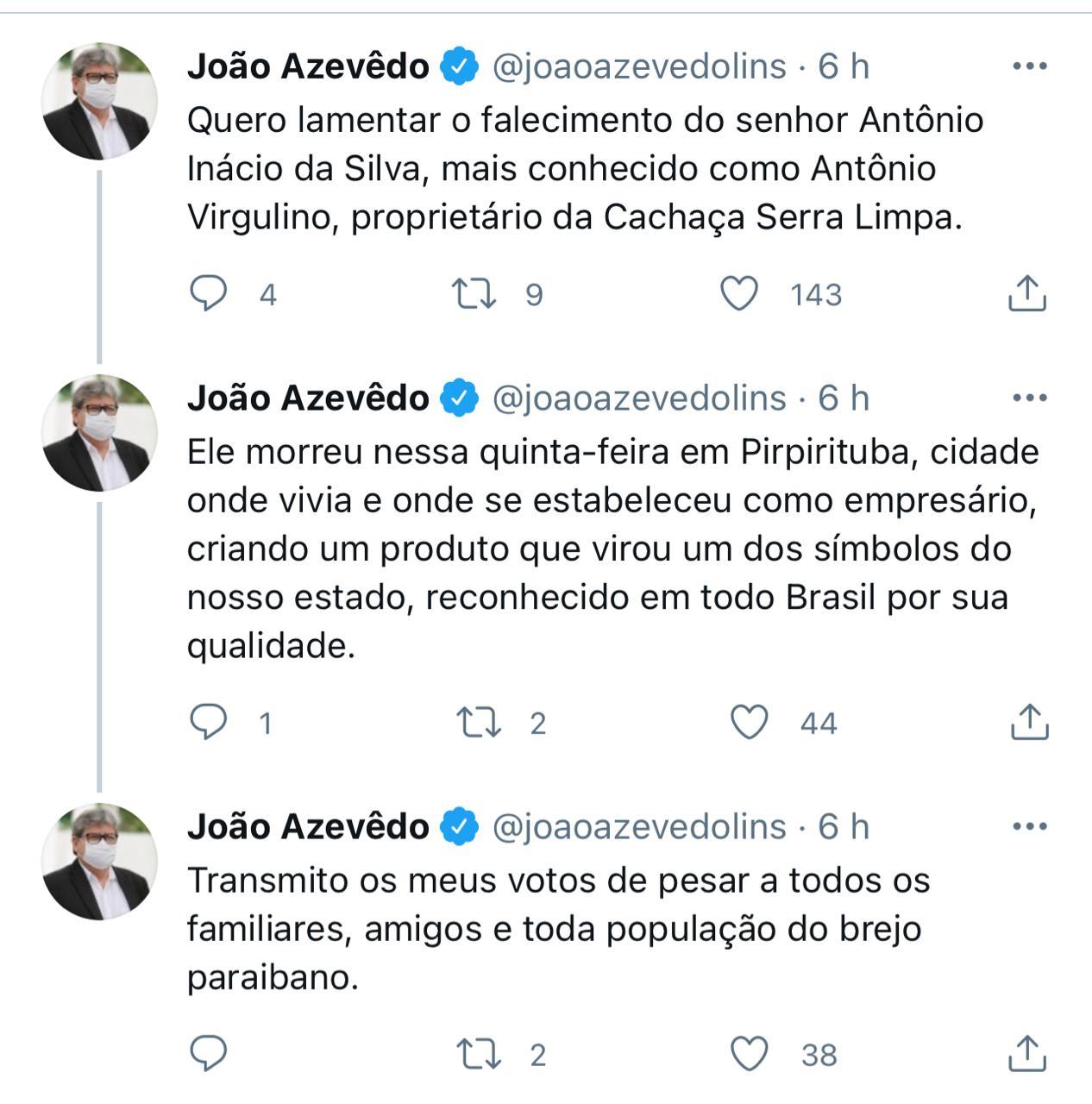 governador_joao_azevedo_lamenta_falecimento_de_Antonio_Inacio